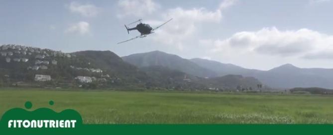 fumigacion campos de arroz en pego
